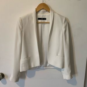 MNG White Dress Blazer